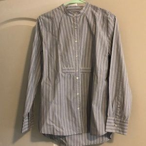 Madewell Striped Button Down Blouse - Sz Med VGUC